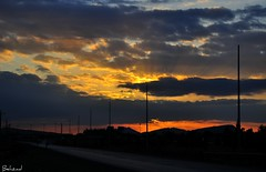 Along the road with beautiful sunrise (Behzad No) Tags: life road sun black color clouds dark season persian alone view iran live dream strong shiraz fars آفتاب زیبا parseh رویا سیاه طلوع anawesomeshot nikond90 خورشید پارسه iranmap iranmapcom ابرهای behzadno خشمگین