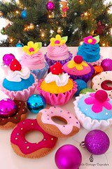 Merry Christmas 2011 (Little Cottage Cupcakes) Tags: christmas toy cupcakes felt donuts feltfood littlecottagecupcakes