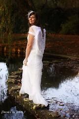 Ange et Dmon (oriannez) Tags: park autumn portrait woman white angel automne ange femme softness parc blanc douceur