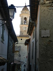 Lucram (simo2582) Tags: trip travel panorama costa france travelling church alpes french landscape town nice reisen europa europe riviera village view cte cote provence alpi blick ville vieux maritimes reise dazur azzurra marittime luceram lucram