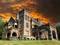 Sharon PA ~ Victorian Stone Mansion on The Hill (Onasill) Tags: county stone architecture arch victorian sharon mercer pa abandon mansion romanesque arche richardsonian onasill