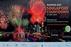 Marina Bay Countdown (chooyutshing) Tags: facade advertisement celebration esplanade forecourt marinabay singaporecountdown 20112012