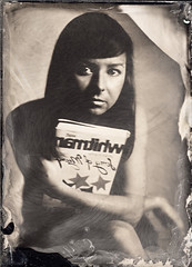 Professions & Passions - Magdalena - Librarian (Maciek Lesniak) Tags: portrait woman wet female zeiss book large plate format tessar collodion 13x18 globica
