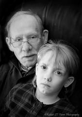 Granfather & Great-Granddaughter (ROBERT ST-PIERRE) Tags: portrait white black girl kid nikon child grandfather granddaughter elderly generations strobist