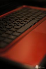 5/366 2012 Laptop (Chris D. Jones) Tags: uk red black wales project computer notebook keys 50mm pc hp keyboard dof laptop sony 365 alpha f18 hewlett 2012 packard 366 a580 sonyalphalearningcenter