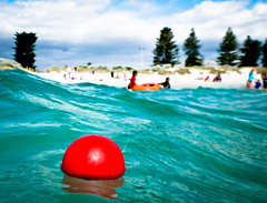the simple things... (jp3g) Tags: red summer beach water pinetree kids ball fun panasonic perth simple fremantle southbeach enjoyment ft3
