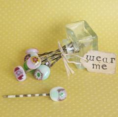handmade fused glass bobby pins (pamela.angus) Tags: cute glass hair pin angus handmade bobby pamela accessory fused pamleaangus
