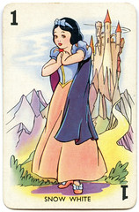 1938 Snow White Playing Card (Filmic Light) Tags: disney snowwhite playingcards cardgame sevendwarfs animationart shuffledsymphonies