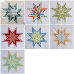 3x6 Q4 2011 - Line 'em up (Annamal Quilts) Tags: quilting quilts 3x6 starblock quiltingbee beeblocks