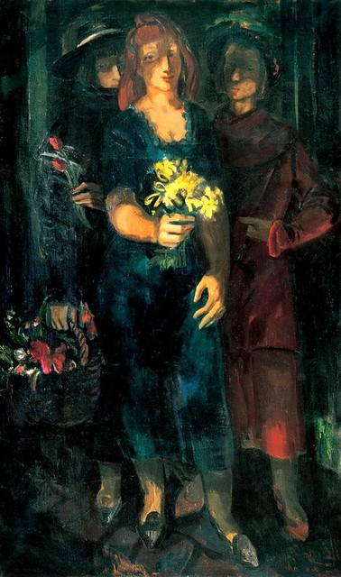 Duray, Tibor (1912-1988) - 1940s Ladies with Flowers (Private Collection)