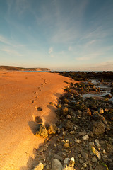 Jurassic Footprints.... (Chrissphotos) Tags: canon coast sand shoreline sigma dorset 7d 1020 weymouth jurassic