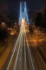Inception (T.Ivak) Tags: park bridge night vancouver lights gate stanley lions stanleypark lionsgatebridge