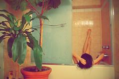 .deripsnI (bebe.tran) Tags: portrait self bathroom nikon bath tub timer d2xs