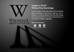 Wikipedia blackout - January 18, 2012