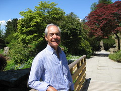 Jose relaxing in the gardens at Chatsworth, home of the Duke and Duchess of Devonshire