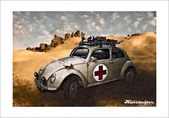 Project 366 - Day 19 - Deutsches Rotes Kreuz VW Käfer (Hans Ruijter | Visual Artist) Tags: vw army desert käfer kaefer deutschesroteskreuz kafer