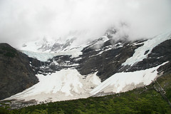 icy waterfall (Veronika Lake) Tags: chile patagonia mountains trekking landscape waterfall nationalpark hiking glacier torresdelpaine parquenacional loscuernos frenchvalley frenchglacier valledelfrancés cordilleradelpaine glaciardelfrancés