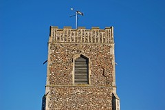 St. Martin's Church, Tuddenham (DaveJC90) Tags: old blue light sky cloud sun sunlight detail building green classic church grass stone suffolk village stmartins sunny sharp sharpness tuddenham tuddenhamstmartin