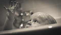 Bathtime Baby Bokeh Wednesday #2 (s0ulsurfing) Tags: portrait people blackandwhite bw baby cute smile face canon vintage fun happy grey mono eyes bath toddler infant babies faces bubblebath head expression availablelight ambientlight fingers innocent expressions adorable happiness bubbles ears monotone william 7d quizzical innocence friendly ambient bathing bathtime infants humans minime 2012 fofinho s0ulsurfing familyuk gettyimagesportraits
