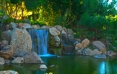 Cool & Refreshing (TQTran) Tags: arizona lake phoenix garden japanese waterfall pond friendship az hdr japanesefriendshipgarden