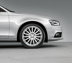Audi A4 Accessories Cast Aluminium Wheel In 15-Spoke Design In Ibis White (M25 Audi) Tags: official exterior interior accessories audi m25 genuine m25audi audia4accessories officialaudi audigenuine audigenuineaccessories