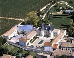 Vue aérienne du Château de Lussac