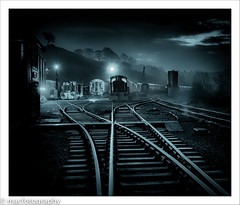 cold.......................... (4macfotography) Tags: trees winter sky cloud mist cold tower silhouette yard dark landscape dawn lights track box crane shed engine rail goods line hills valley 1001nights signal cvr starburst 6am sleepers churnet bestcapturesaoi 1001nightsmagiccity ringexcellence dblringexcellence tplringexcellence eltringexcellence