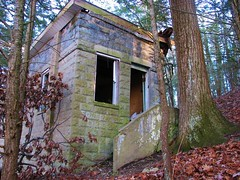 BROKEN WORKSHOP (richie 59) Tags: old trees houses winter usa house building abandoned overgrown america buildings outside us moss weeds woods ruins unitedstates ruin oldbuildings oldhouse abandonedhouse vandalism newyorkstate oldbuilding obsolete 2012 wornout nystate abandonedbuilding abandonedbuildings hudsonvalley newsalem condemnedhouse coochie abandonedstructure ulstercounty abandonedhouses brokenhouse midhudsonvalley abandonedstructures ulstercountyny americanbuilding concreteblockbuilding newsalemny americanbuildings townofesopus richie59 townofesopusny jan2012 jan292012