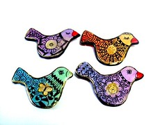 birds with Pinkitangle (**mira pinki krispil-colors of life ***) Tags: sculpture bird art handmade fimo clay pinki polymer      mirakris