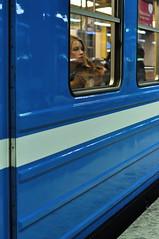 Day dreaming (Sean Lewthwaite) Tags: street winter people girl train fur person looking sweden stockholm gamlastan tunnelbana