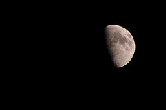 February Moon (Richard Amor Allan) Tags: sky moon night lune darkness space satellite negativespace crater lunar orbit creativelychallenged