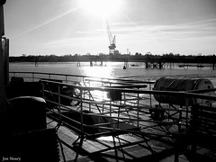 view from a mersey ferry (exacta2a) Tags: blackandwhite liverpool docks boats ships birkenhead ferries merseyside contrejoure