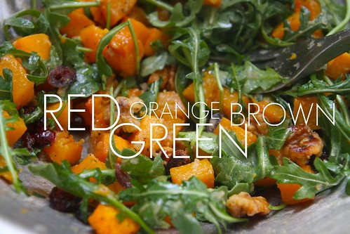 roasted butternut squash & arugula salad