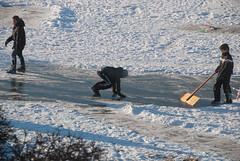 sledging2012-73.jpg (Zandvoort Life) Tags: winter snow holland ice netherlands kids nederland sanddunes 2012 frozenlake zandvoortaanzee scrapingsnow saggerboy