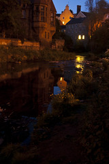 Edinburgh Stream (albinobobman) Tags: city uk reflection water outdoors scotland nightshot