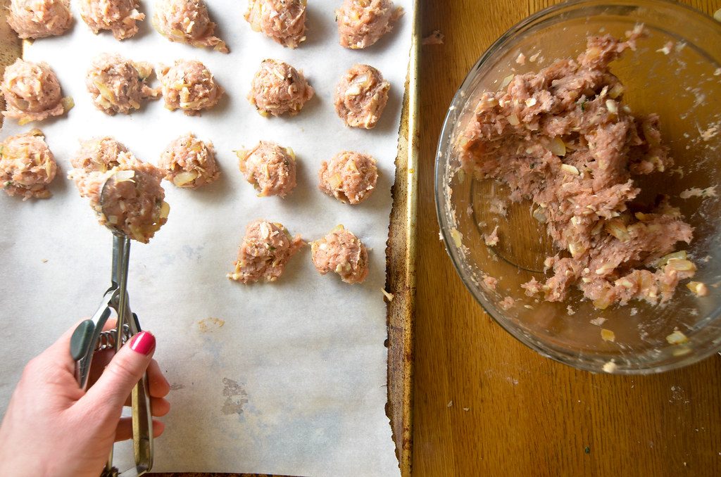 turkey + gruyere meatballs