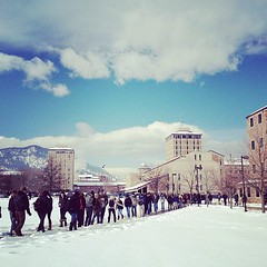 hourly herd migration (kara brugman) Tags: sky cloud mountain snow tree architecture square cu colorado boulder squareformat rockymountains frontrange iphone amaro universityofcolorado duanephysics iphoneography instagramapp uploaded:by=instagram bensonearthsciences