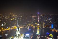 SWFC @ Night - Image 85 (www.bazpics.com) Tags: china city tower glass skyline skyscraper radio tv shanghai centre area pearl tall oriental pudong financial jinmao lujiazui swfc