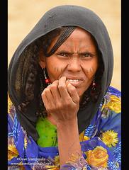 Portrait of an Afar woman in the Danakil Depression, Ethiopia (jitenshaman) Tags: africa travel portrait tourism scarf women muslim tribal somali shawl traveling ethiopia worldtravel afar moslem danakil worldlocations danakildepression