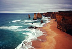 Here we are (flava2000) Tags: ocean travel summer beach sunshine landscape coast rocks australia greatoceanroad hss