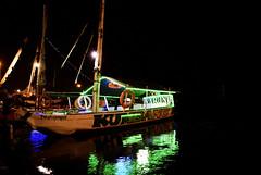 Kumbang (Jay axan) Tags: travel reflection beach water night boat nikon yacht d shore greenlight 3200 hightlight d3200 flickrexplored