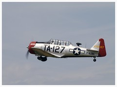 North American AT-6C Harvard Mk2A - F-AZBE (Aerofossile2012) Tags: aircraft harvard airshow warbirds trainer avion texan t6g snj 2014 northamerican cerny toratoratora ferté