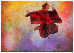 Red Spring Dance (Leo Bar) Tags: art texture painting dance artwork dancers danza digitalart moderndance awardtree leobar pixinmotion