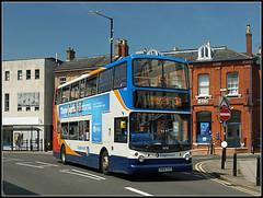 18198, Church Street, Rugby (Jason 87030) Tags: town rugby centre may 400 dennis churchstreet publictransport 31 warwickshire alx stagecoach doubledecker trident 2016 hillmorton 18198 warks kn54zxo