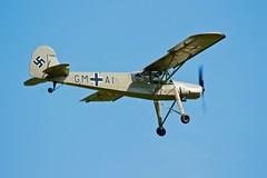 Fieseler Fi 156 (Biggleswade Blue) Tags: world old 2 england airplane war aircraft bedfordshire aeroplane ii german fi warden shuttleworth stork 156 lowcontrast storch highquality fieseler
