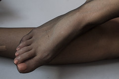 IMG_0946 (fishnet1966) Tags: black feet girl skinny foot legs tights pantyhose nylon