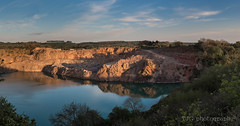 Golden Valley quarry, Wick, Bristol (T J G photography) Tags: sunset sky panorama reflection water bristol nikon goldenvalley nikkor quarry wick d610 2470 freezinghill