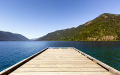 Days Of Blue (John Westrock) Tags: lakecrescent mountains nature water pier washington sunny bluesky clear pacificnorthwest canoneos5dmarkiii canonef1635mmf4lis