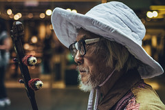 _DSC0280-Edit.jpg (Phredla) Tags: portrait street portait sigma d7200 music instrument glasses tape diy f2 silver hair chinese hat cap light bokeh 1835 city sydney pitt 18 art passenger heaven hokousha tengoku