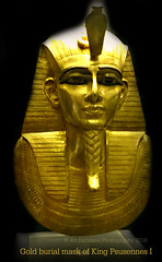 Gold burial mask of King Psusennes I (Amberinsea Photography) Tags: egypt cairo pharaoh ancientegypt tanis cairomuseum goldmask psusennes goldtreasure amberinseaphotography